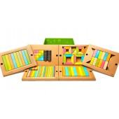 Magnetische Houten Blokkenset - 130 stuks - Schoolset