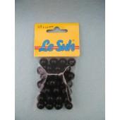 Houten Kraaltjes - Zwart Gelakt - 4 mm - 38 stuks