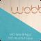 Wobbel - Blank gelakt - Vilt Aqua